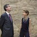 Visite du Louvre le diamnche 13 juillet en présence de Henri Loyrette, président du Louvre .