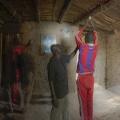 Village de Ghamoune. Casamance, Sénégal. La famille de Baboucar Sagna et ses 7 enfants. Les habitants du village viennent recharger leurs batteries chez lui.