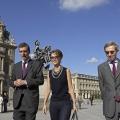 Visite du Louvre le diamnche 13 juillet en présence de Henri Loyrette, président du Louvre et Michel Duclos (à droite), ambassadeur de France à Damas.