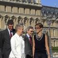 Visite du Louvre le diamnche 13 juillet en présence de Henri Loyrette, président du Louvre et Michel Duclos (à droite), ambassadeur de France à Damas. Sophie  Cluzan, conservateur des Antiquités Orientales les accompgne.