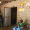 Village de Kigninding. Casamance, Sénégal. La famille de Ibrahima Dhiediou où vivent 25 personnes.