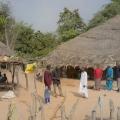 Village de Ghamoune. Casamance, Sénégal. L'habitat est dispersé. Maison de Amadou Sow.